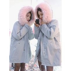 icecream12 - Faux-Fur Lined Hood Parka