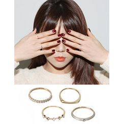 URBAN LADY Set of 4: Rings