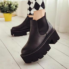 Zandy Shoes - Platform Ankle Boots