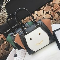 Coxchamp - Smiley Face Color Panel Handbag