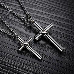 騰翼 - 情侶十字鈦鋼項鍊