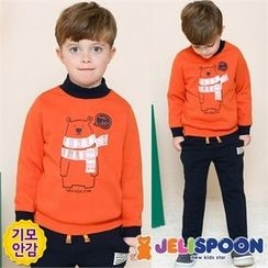 JELISPOON - Kids Set: Printed Sweatshirt + Sweatpants