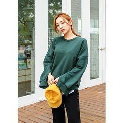 J-ANN - Slit-Sleeve Sweatshirt