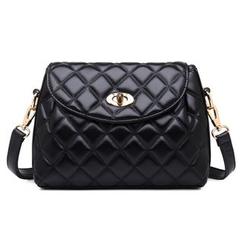 BeiBaoBao - Faux-Leather Twist-Lock Cross Bag