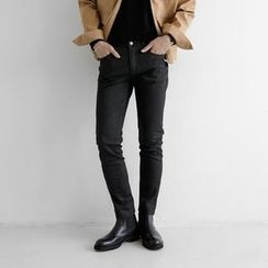Seoul Homme - Coated Slim-Fit Pants
