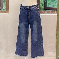 Usado - Wide Leg Jeans