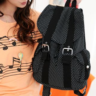 59 Seconds - Dotted Canvas Backpack
