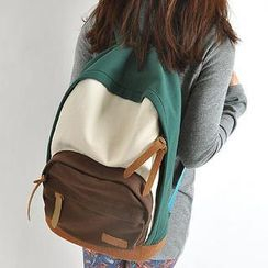 Miss Sweety - Contrast-Color Canvas Backpack