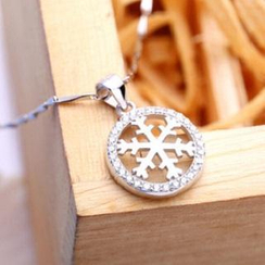 Zundiao - Sterling Silver Snowflake Pendant