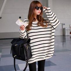 NEUF - 孕妇条纹长款毛衣