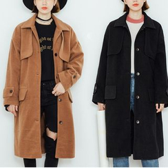 Heynew - Woolen Long Coat