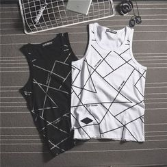 Mr.C studio - Patterned Tank Top