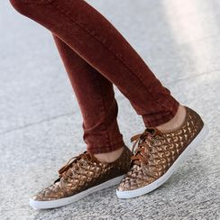 SO Central - Heart-Pattern Quilted Sneakers