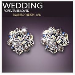 Nanazi Jewelry - Crystal Three-Leaf Clover Earrings