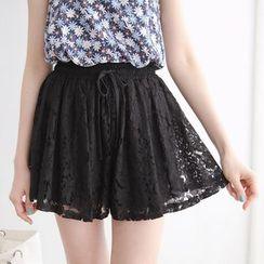 Tokyo Fashion - Drawstring Lace Culottes