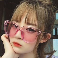 Pompabee - Colored Lens Square Sunglasses