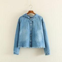 Mushi - Hooded Denim Jacket