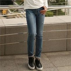 Smallman - Straight-Cut Washed Jeans