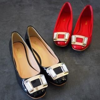SV Footwear - Jeweled Patent Pumps
