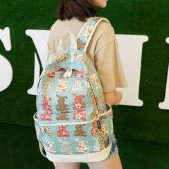 VIVA - Rabbit Print Backpack