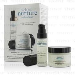 Philosophy - Back To Nurture Set: 1x Deeply Replenishing Oil Gelee 15ml/0.5oz, 1x Replenishing Moisture Creme 30ml/1oz