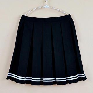 Skool - Striped Pleated Mini Skirt