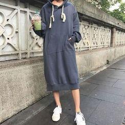Dute - Lettering Midi Hoodie Dress