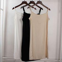 Lacyland - 純色吊帶裙