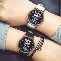 Crocosmia - Lettering Strap Watch