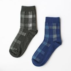LIFEDIFF - Set of 2: Checked Socks