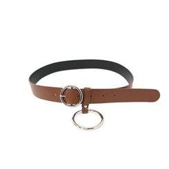 DABAGIRL - Hoop-Accent Faux-Leather Belt