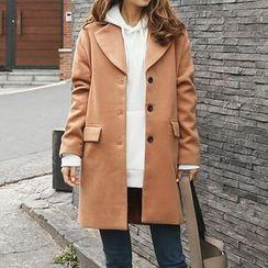 Seoul Fashion - Single-Breasted Coat