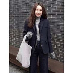 maybe-baby - Single-Breasted Wool Blend Blazer