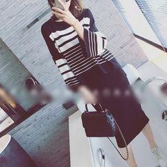 Octavia - Striped Long Sleeve Knit Top