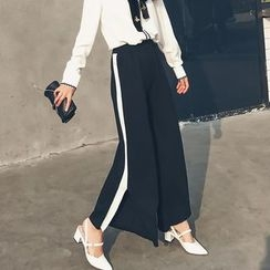 LRZ - Slit Wide Leg Pants