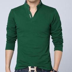 Alvicio - 开襟长袖马球衫