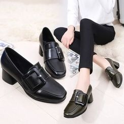 Sunsteps - Chunky Heel Buckled Loafers