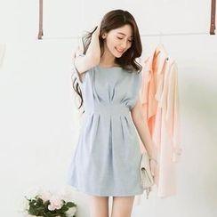 Tokyo Fashion - Shirred-Shoulder Pleated Dress