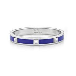 Kenny & co. - Purple Enamel Bangle With Steel Rivet