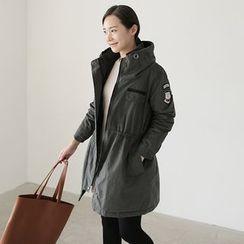 CLICK - Hooded Drawstring-Waist Coat