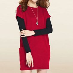 Rocho - Set: Short-Sleeve Dress + Long-Sleeve T-Shirt