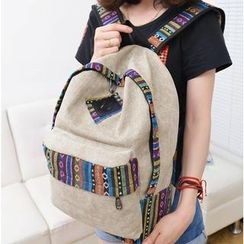 Bags 'n Sacks - Ethic-Print Canvas Backpack