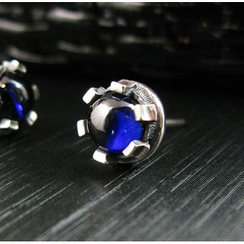 Sterlingworth - Blue Sapphire Sterling Silver Single Earring
