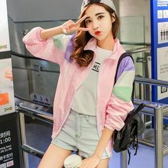 Sakura Rain - Color-Block Light Jacket