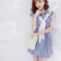 Tokyo Fashion - Stripe Shirtdress with Neckerchief