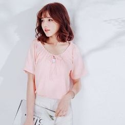 Tokyo Fashion - Pleated Short-Sleeve Top