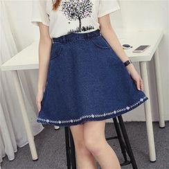 Honey House - Denim A-Line Skirt