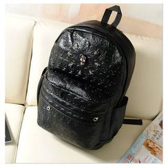 Crystal - Skull Studded Backpack