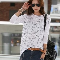 The Shop Story - Drop-Shoulder Star Patterned T-Shirt