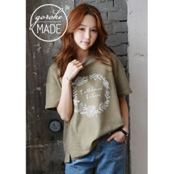 GOROKE - Short-Sleeve Flower Print T-Shirt
